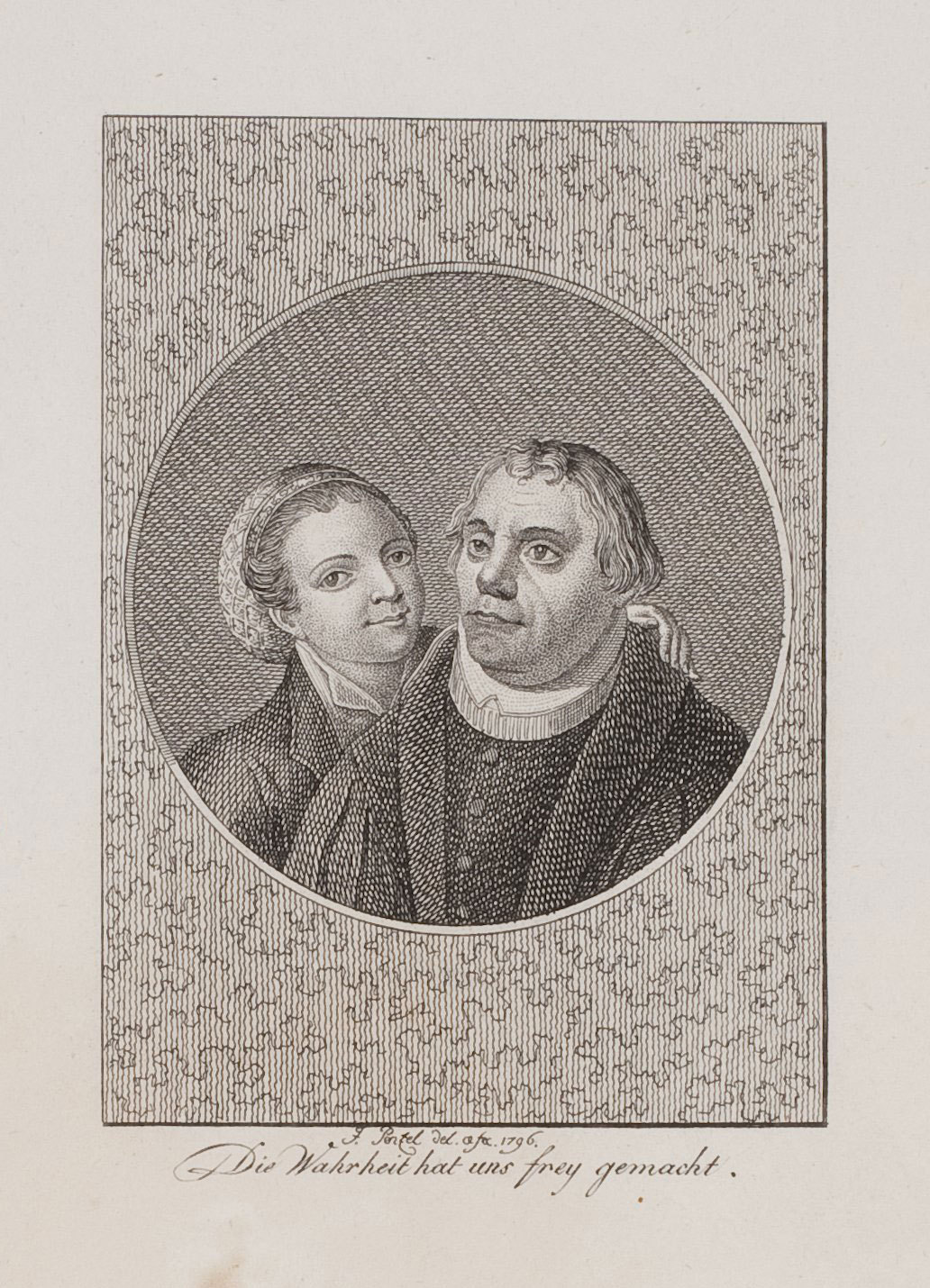 Doppelporträt von Martin Luther und Katharina von Bora