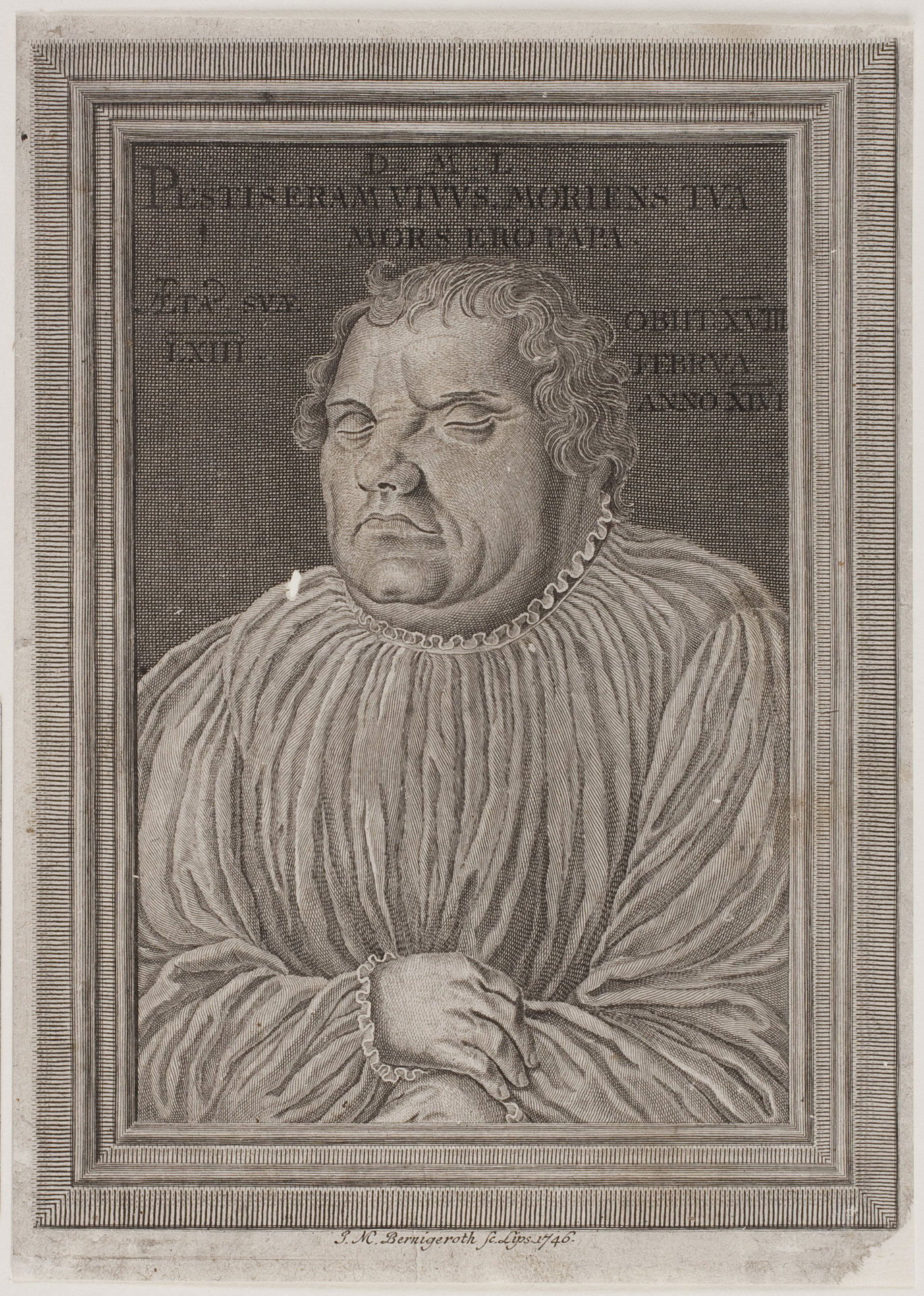 Totenbildnis Luthers