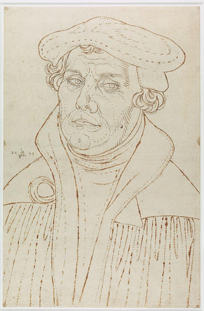 Lochpause nach einem Luther-Porträt Lucas Cranachs d. Ä. von 1528