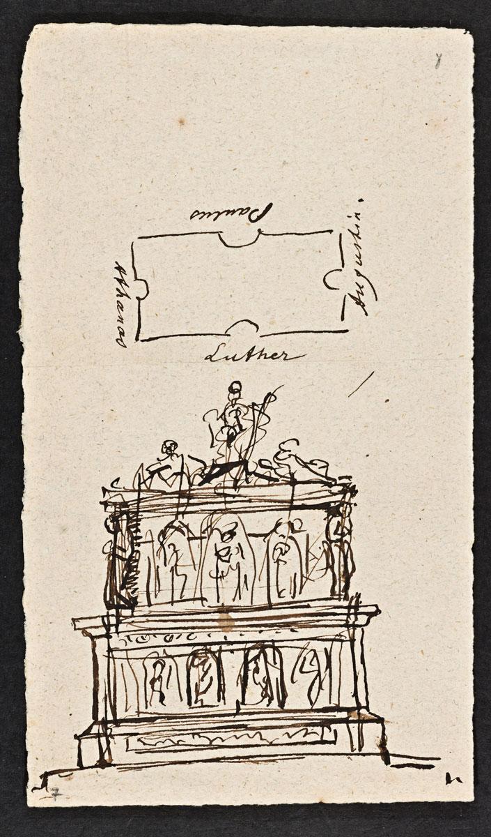 Entwurf zu einem Luther-Monument